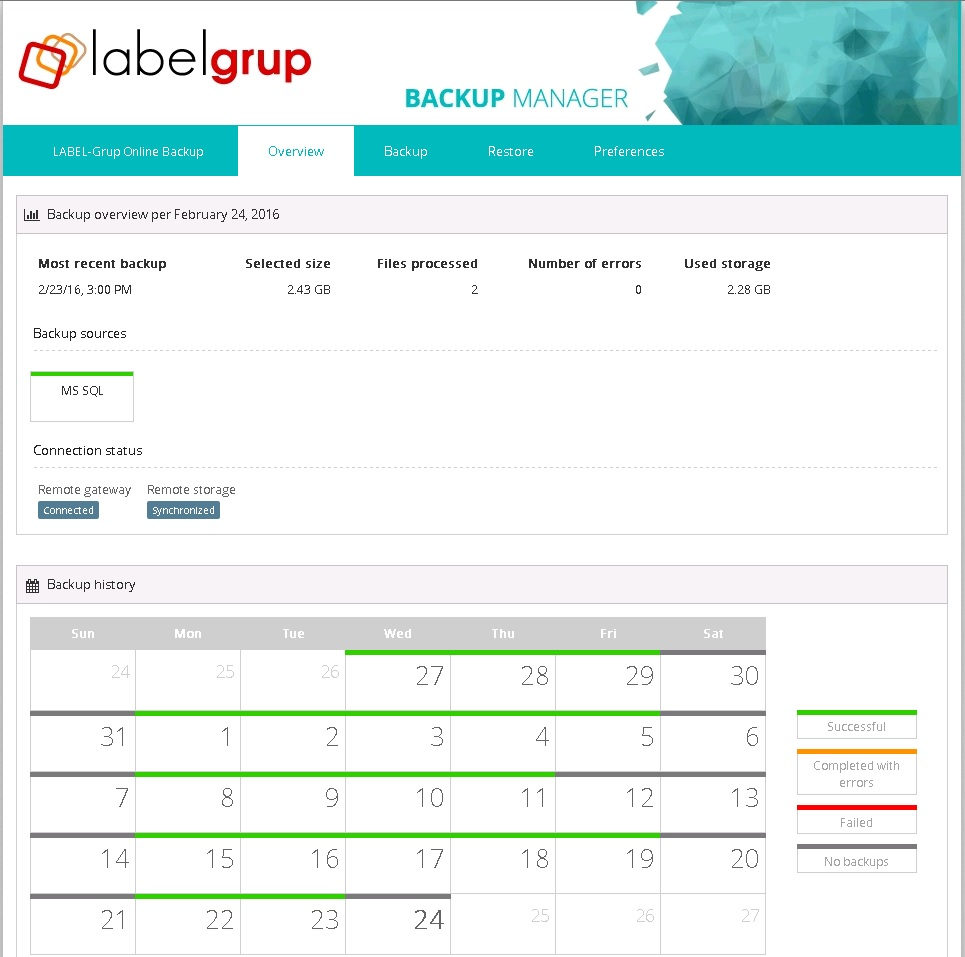 LabelGrup Cloud Backup